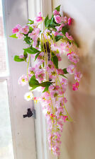 Sakura Pink Hanging Vines Artificial Flower Bush Wedding Decoration