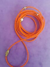 "Sexy African Single Waist Beads, Orange ; 33""inches long New FREE P&P"