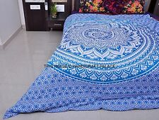 Ombre Mandala Indian Duvet Covers Throw Cotton Queen Quilt Blanket Cover Bedding