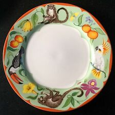 LYNN CHASE porcelain dinner plate MONKEY BUSINESS