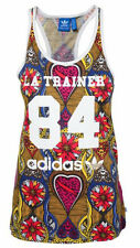 SIZE LARGE 16 - ADIDAS ORIGINALS WOMENS ROUND NECK LA TRAINER TANK TOP - MULTI