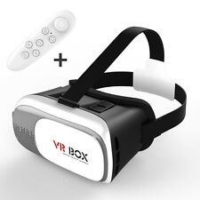 Smart Indie VR-BOX 2.0 Virtual Reality 3D Glasses with White Remote Controller