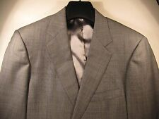Southwick RECENT Mens Medium Grey Shadow Green Windowpane Suit Flat Front 41L