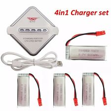 JST 4-port Charger set+4x 600mAH Battery For UDI U817A U818A WLTOYS V959 SYMA S3