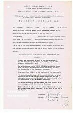 JACK SIMPSON   Signed Entertainment Contract    New Opera House Blackpool  1951