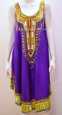 PLUS SIZE DASHIKI AFRICA TRIBAL FESTIVAL HIPPY GYPSY DRESS PURPLE 16 18 20 22 24