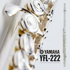 Yamaha YFL 222 Silver Student Flute Offset G, Footjoint C with Hard Case + Bag