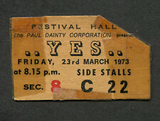 Original 1973 Yes Concert Ticket Stub Melbourne Australia Close To The Edge Tour