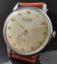 MOERIS EXCELLENCE VINTAGE OVERSIZED WATCH UHR MONTRE, rare 38MM, WONDERFUL DIAL