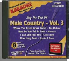 Karaoke CD+G - Sing the Best of Male Country, Vol 3 - New Performer's Choice CD!