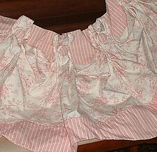 Custom Toile Valance Pink White Scalloped BEUTIFUL!  60 x 22