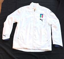 Puma FIGC Italy Italia Long Sleeve Men's Soccer Pullover Shirt Size Large Jacket