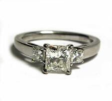 Engagement Women 1.27CT Diamond SOLITAIRE Ring Princess Helzberg Palladium