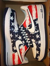 "Men's Nike Air Force 1 Size 9 (488298 425) Independence Day ""No Box Top"""