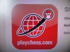 1 Jahr Mitglied bei schach.de / member of playchess.com