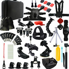 New Chest Flat Mounts 64in1 Camera Accessories Set For GoPro Hero 2 4 3 3+