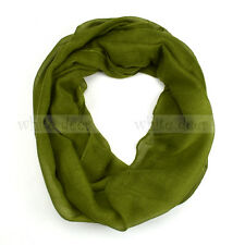 Women's Solid Color Spring Summer Light Weight Thin Infinity Scarf Circle Loop