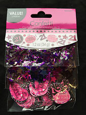 21st Birthday Confetti Table Decoration Sprinkle Black Pink Purple Age 21 Party