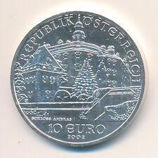 Österreich 2002 - 10 Euro Silber - Schloss Ambras - BANKFRISCH