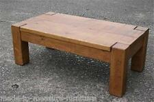 """""""any size made"""" SOLID WOOD COFFEE TABLE SIDE END RUSTIC PLANK PINE FURNITURE"""