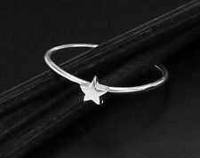 925 Sterling Silver Star Band Ring Size US 5, Delicate Ring