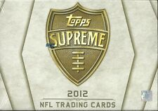 2012 Topps Supreme Factory Sealed Football Hobby Box  Luck & Griffin RC's ??