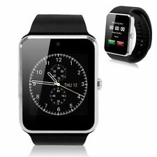 """1.54"""" Bluetooth Smart Watch NFC Wrist Phone Mate For Android IOS Phone Silver BD"""