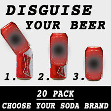 20 PACK OF HIDE A BEER CAN COVERS CAMO WRAP SLEEVES DISGUISE GOLF SODA TAILGATE