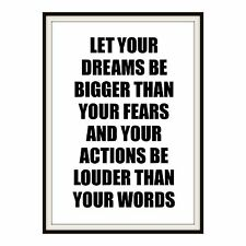 Motivational Inspirational Quote Postcard Poster Size A6 Print gallery wall art