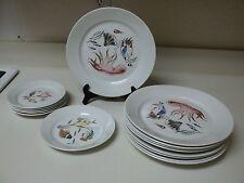Arabia Finland Aquarium Fish Scenes ~ 15 Pc Set ~ Plates ~ RARE ~ Vintage