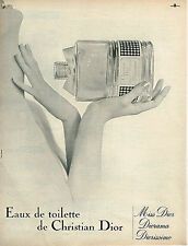 PUBLICITE ADVERTISING  1962   CHRISTIAN DIOR   parfum Diorama Miss
