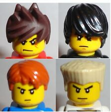 LEGO Set/ 4 MINIFIG HAIR -Ninjago Ninja Zane Kai Jay And Cole New LOT Parts