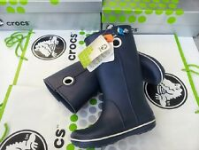 CROCS JAUNT GEORGIE RAIN SNOW BOOT SHOE~Navy Blue~Women 4 Mens 2~NWT
