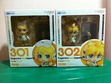 Nendoroid 301 & 302 Rin and Len Kagamine Append set (not miku) Japan Version