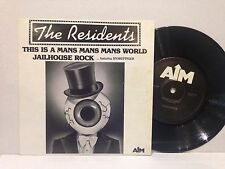 """THE RESIDENTS - THIS IS A MANS MANS WORLD  - 7"""" single OZ AUSSIE 1986 AIM"""