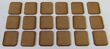 2mm thick MDF Small Size FOW Type Bases 1 pack of 18, FOW Flames of War