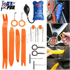 13Pcs Car Panel Removal Open Pry Tools Kit Dash Door Radio Trim+ Pump Wedge