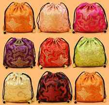Wholesale 50pcs Chinese drawstring Silk Embroidered Purse Pouch Bags Wallets 001