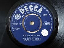 "The Rolling Stones It's All Over Now ♫LISTEN♫ UK 7"" Decca F.11934 1964 VG+"
