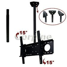 "LED LCD Plasma Ceiling TV Mount Bracket 39"" 40 42 43 46 48 50 55 60 65"" Tilt M66"