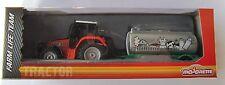 Tracteur avec réservoir-remorque/tracteur/Env. 18 CM/ferme/MAJORETTE/nouveau OVP