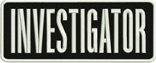 investigator embroidery patch 4x10 inches white letters