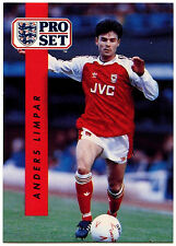 Anders Limpar Arsenal #14 Pro Set Football 1990-1 Trade Card (C363)