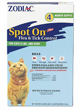 Zodiac Spot on Flea Control For Cats Over 5 Pounds 4 month