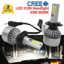 2Pcs 55W 4600LM H7 6000K CREE LED Headlight 12V Car Conversion Bulbs Kit White