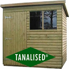 Pent Garden Shed 8x6 Log Lap Tanalised Heavy Duty 16mnm Fully T&G No cheap board