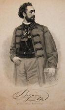 c1880 Bignio Louis von Opernsänger Budapest Wien Stahlstich-Porträt Weger