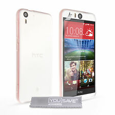 Yousave Accessories For The HTC Desire Eye Clear Silicone Gel Fitted Case Cover
