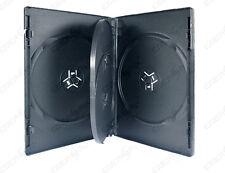 10 Stk. 4 Fach CD/DVD Hüllen / Leerhüllen / BOX schwarz