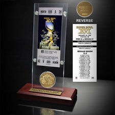 San Francisco 49ers Super Bowl XVI Ticket and Game Coin Acrylic Display - NFL